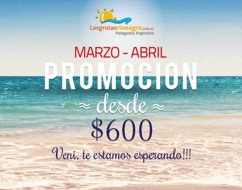 PROMO EN LAS GRUTAS - DESDE 400$ - NOVIEMBRE Y DICIEMBRE